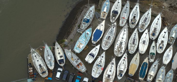 Racing boats under Brunel's beautiful bridge